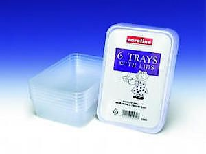 Plastic Tubs W.Lids X7 500Ml