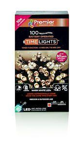 100 B-O Warm White Led Lights