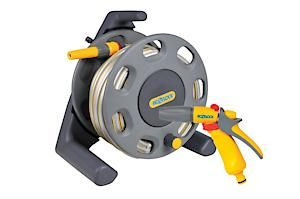 Hozelock Compact Hose Reel With 25M Hose & Fittings