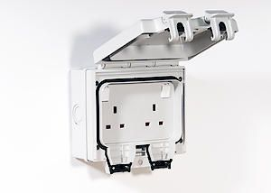 Ip66 Twin Switched Socket 13A