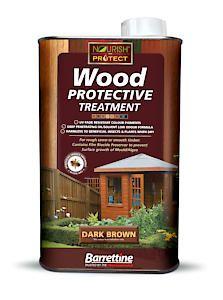 Barrettine Wood Protect Dark Brown 1L