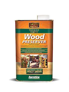 Barrettine Wood Protect Holly Green 1L