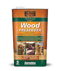 Barrettine Wood Protect Light Brown 5L