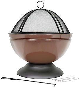 Globe Enamelled Firepit Brz 58089