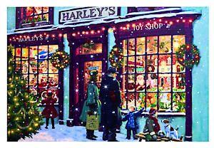 Fb171255 60X40 Canvas Xmas Shop