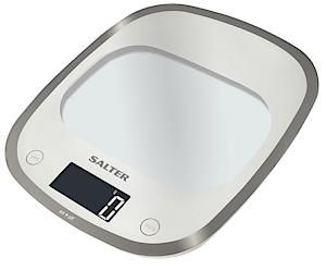 Curve Glass White Electronic Kitchen Scale