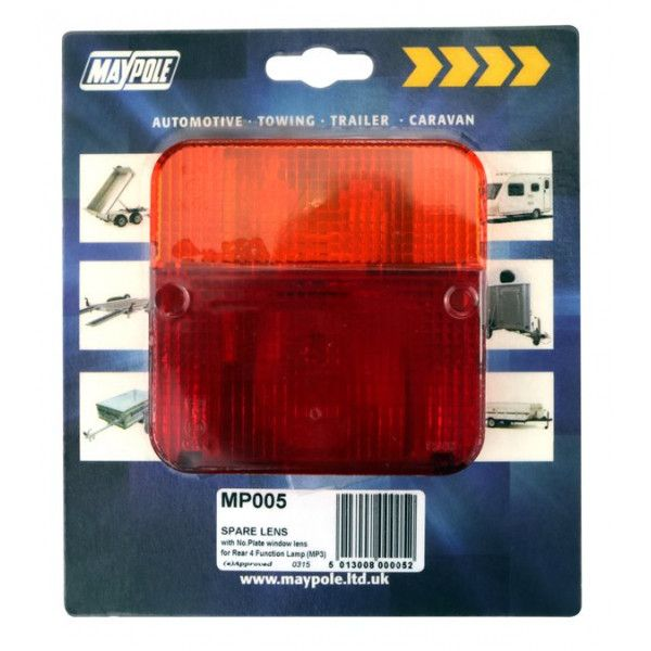 Rear Lamp Square Lens Only 003