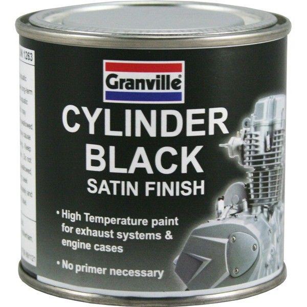 High Temperature Cylinder Paint Black Satin 250Ml