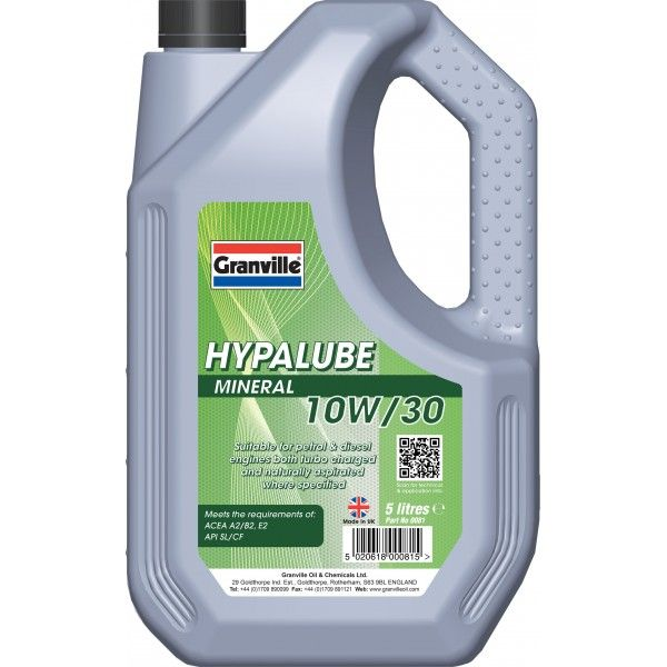 Hypalube Mineral Oil 10W30 5 Litre