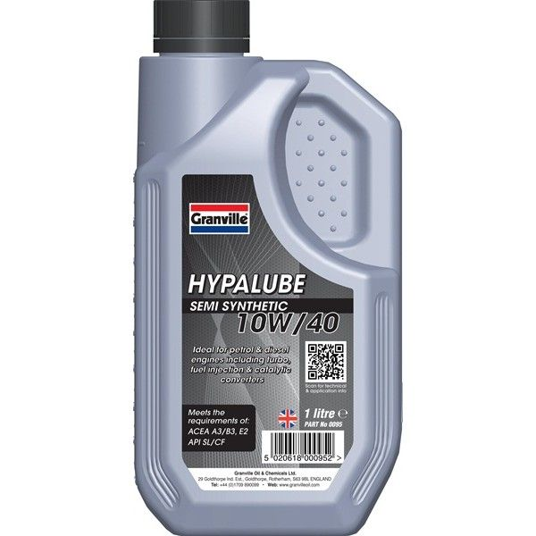 Hypalube 10W40 Semi Synthetic 1 Litre