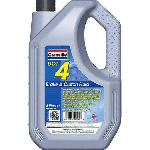 Dot 4 Synthetic Brake Clutch Fluid 5 Litre