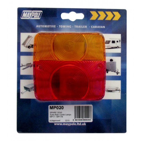 Rear Lamp Square Lens Only 017