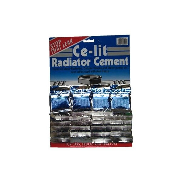 Radiator Cement Sachets Display Card Of 24