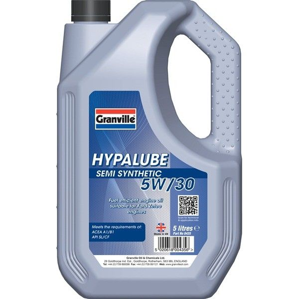 Hypalube Semi Synthetic 5W30 5 Litre