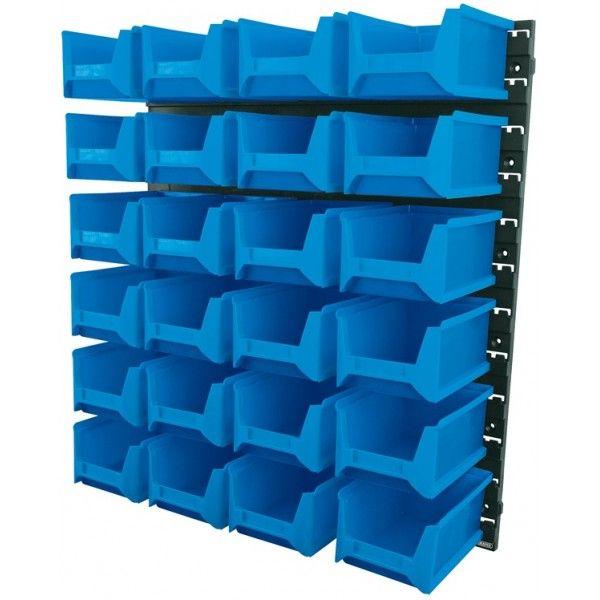 24 Bin Wall Storage Unit Large Bins