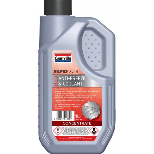 Rapid Cool Red Anti Freeze Concentrate 1L