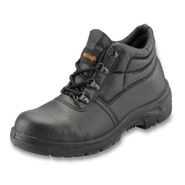 Safety Chukka Boots Steel Midsole Black Uk 4