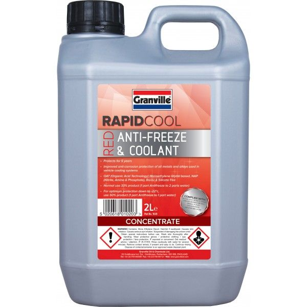 Rapid Cool Red Anti Freeze Concentrate 2L