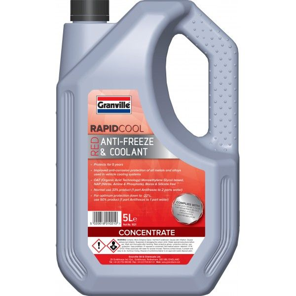 Rapid Cool Red Anti Freeze Concentrate 5L