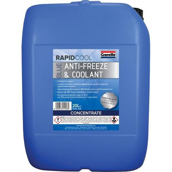 Rapid Cool Blue Anti Freeze Concentrate 20L