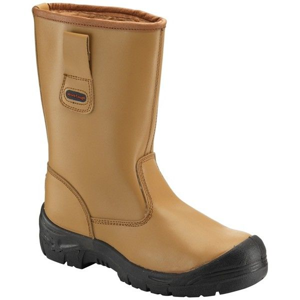 Rigger Boots With Scuff Cap Tan Uk 9