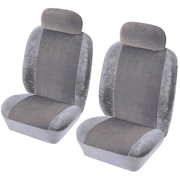 Car Seat Cover Heritage Front Pair Grey