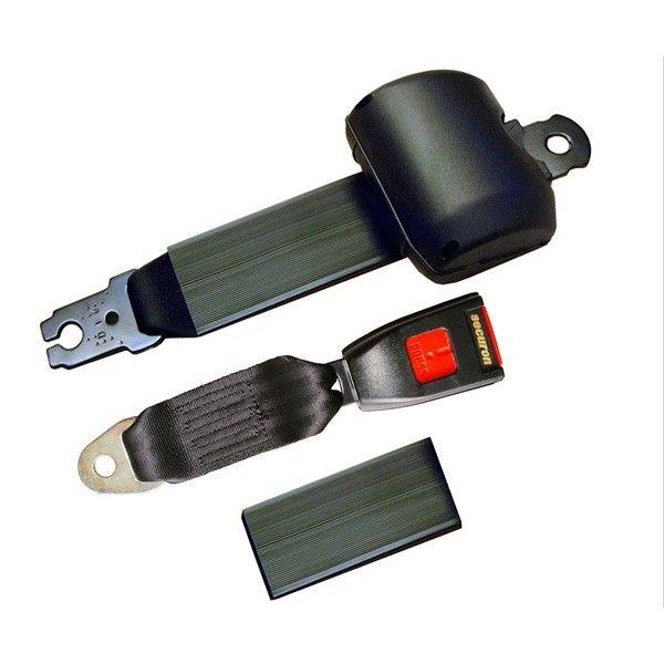 Seat Belt Retracting Lap Black