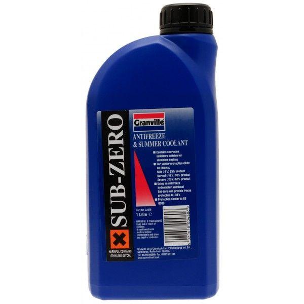 Subzero Antifreeze Summer Coolant Concentrated 1 Litre