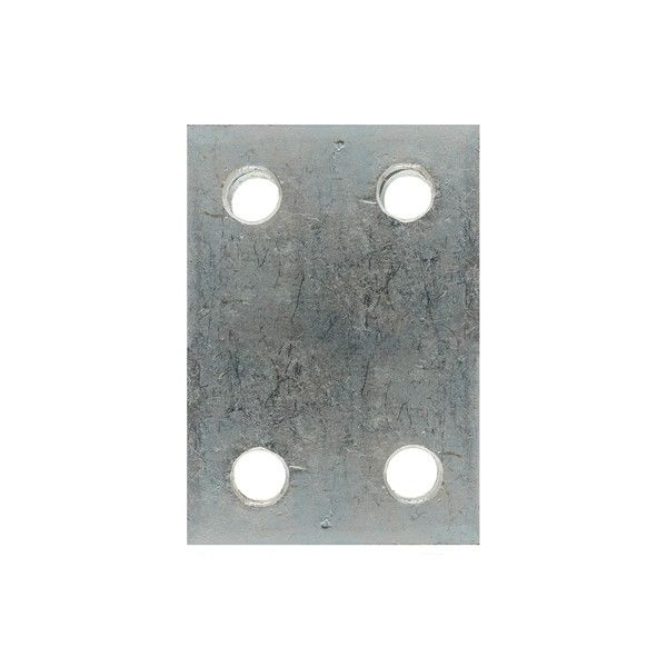 Drop Plate 4 Hole Zinc Plated 2In.