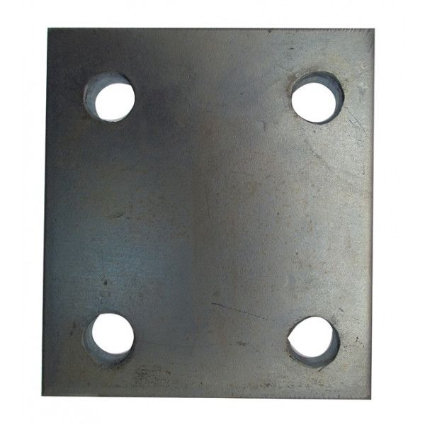Drop Plate 4 Hole Zinc Plated 3In.