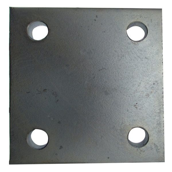 Drop Plate 4 Hole Zinc Plated 4In.