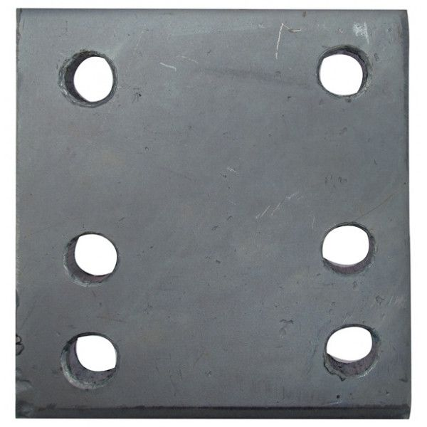 Drop Plate 6 Hole Zinc Plated 4In.