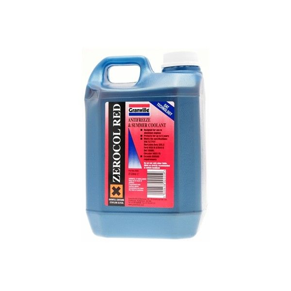 Zerocol Antifreeze Summer Coolant Concentrated 2 Litre