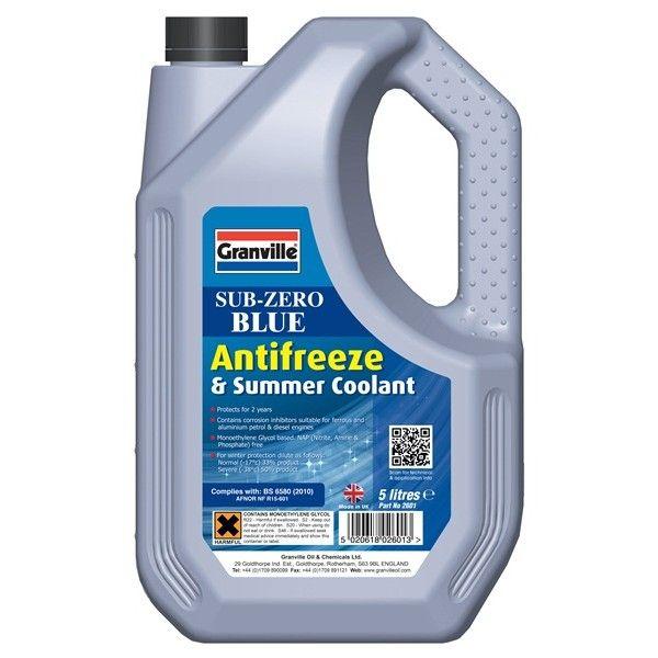 Subzero Antifreeze Summer Coolant Concentrated 5 Litre