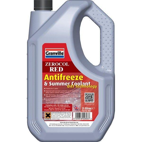 Zerocol Antifreeze Summer Coolant Concentrated 5 Litre