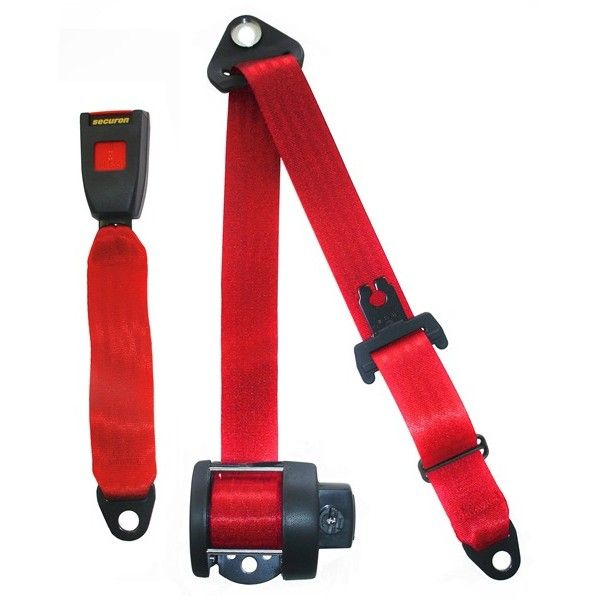 Seat Belt Auto Lap Diagonal Red