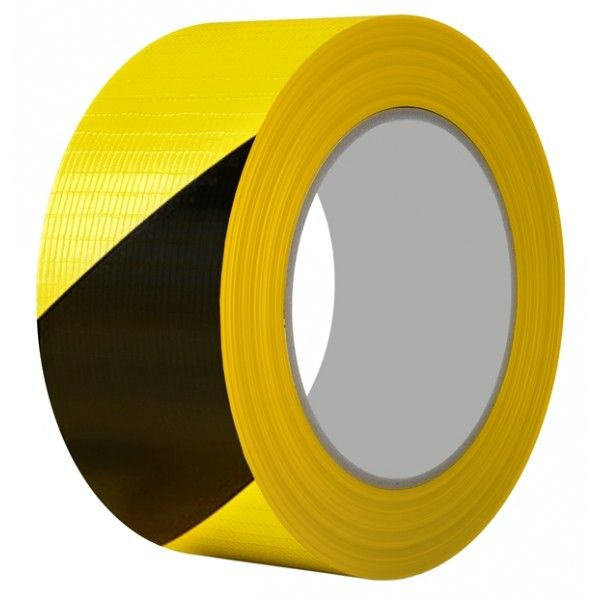 Pvc Hazard Marking Tape Black Yellow 50Mm X 33M