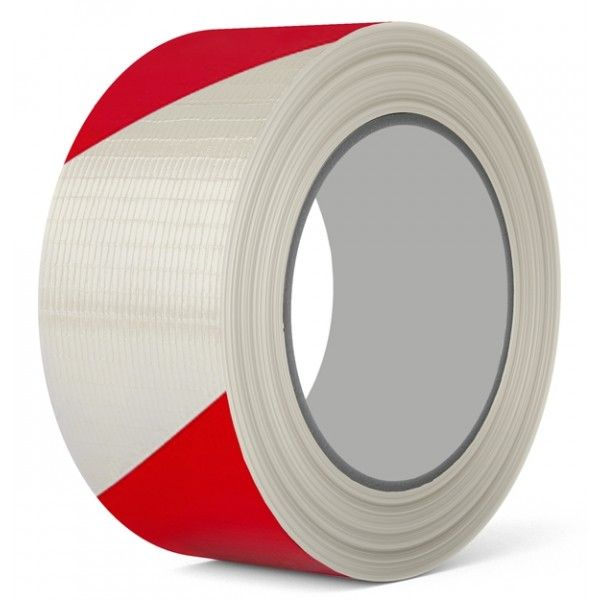 Pvc Hazard Marking Tape Red White 50Mm X 33M