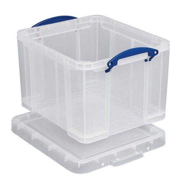 Plastic Storage Box Clear 35 Litre