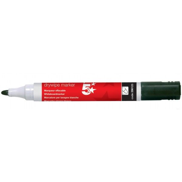 Dry Wipe Marker Pens Black Pack Of 12