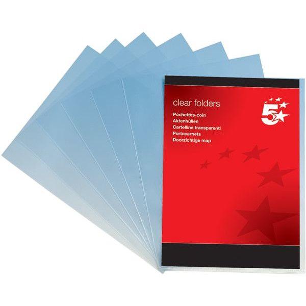 A4 Plastic Folders Clear Pack Of 100