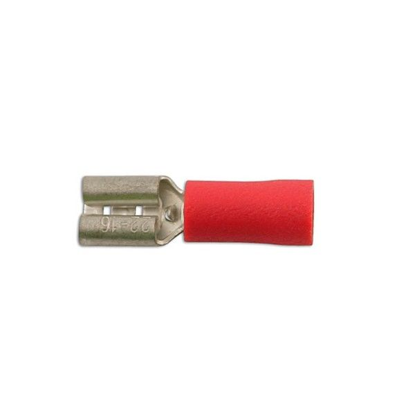 Wiring Connectors Red Female Slideon 6.3Mm Pack Of 100