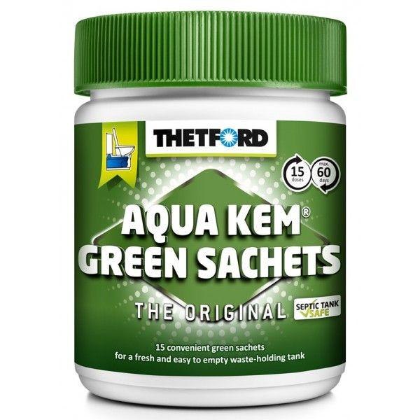 Aqua Kem Green Toilet Sachets Can Of 15