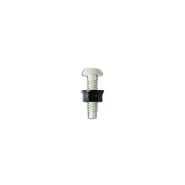 Number Plate Screws Nuts White No.6 X 1In. Pack Of 100