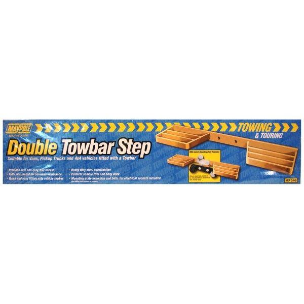 Rear Tow Bar Step Double