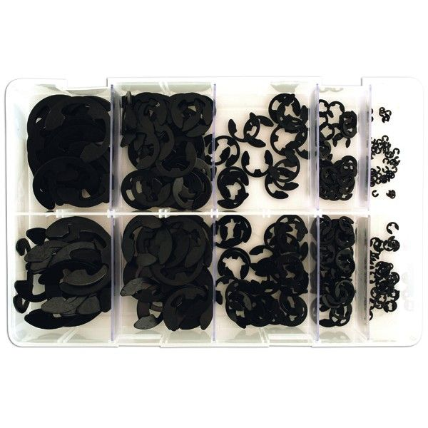 E Retaining Clips Assorted Metric Box Qty 800