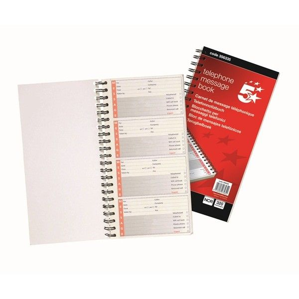 Telephone Message Book 80 Pages
