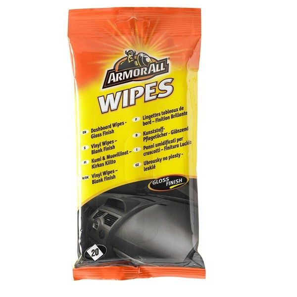 Dashboard Wipes Gloss Finish Pack Of 20