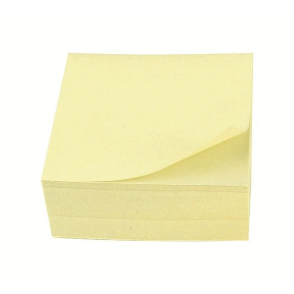 Remove Notes Cube Yellow 75 X 75Mm 320 Sheets