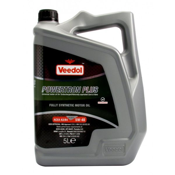 Powertron Plus 5W40 Fully Synthetic 5 Litre